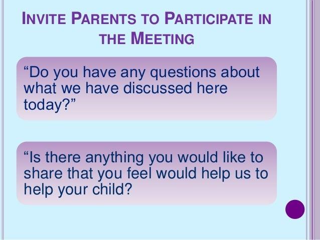 Southside ms parent teacher conferences invite parents to participate in the meeting altavistaventures Gallery