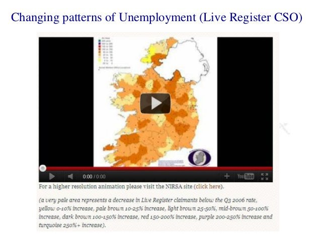 Changing patterns of Unemployment (Live Register CSO)