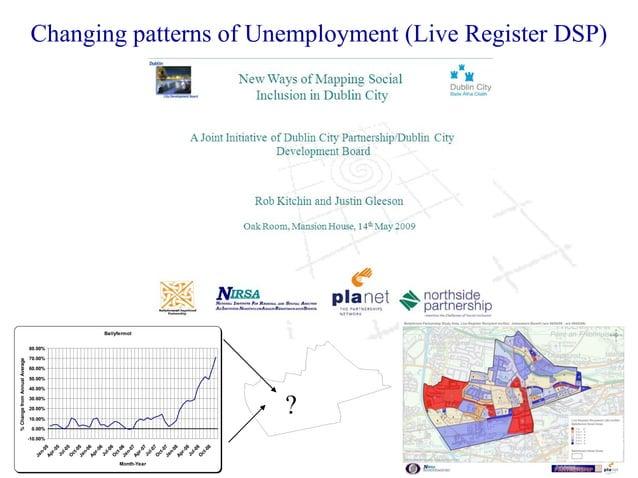 Changing patterns of Unemployment (Live Register DSP) Ballyfermot -10.00% 0.00% 10.00% 20.00% 30.00% 40.00% 50.00% 60.00% ...