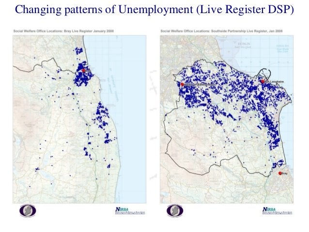 Changing patterns of Unemployment (Live Register DSP)