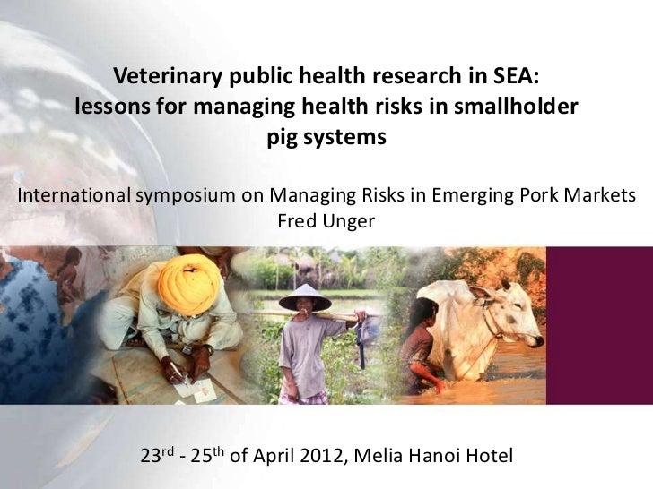veterinary public health research in southeast asia