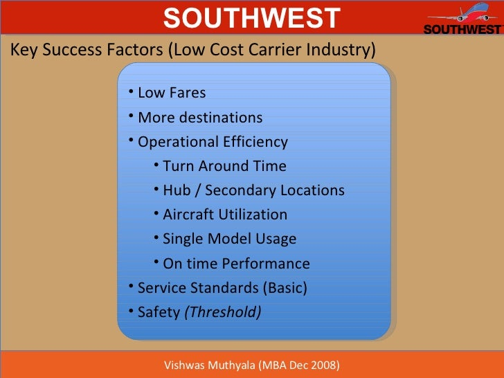Airline Industry Key Success Factors