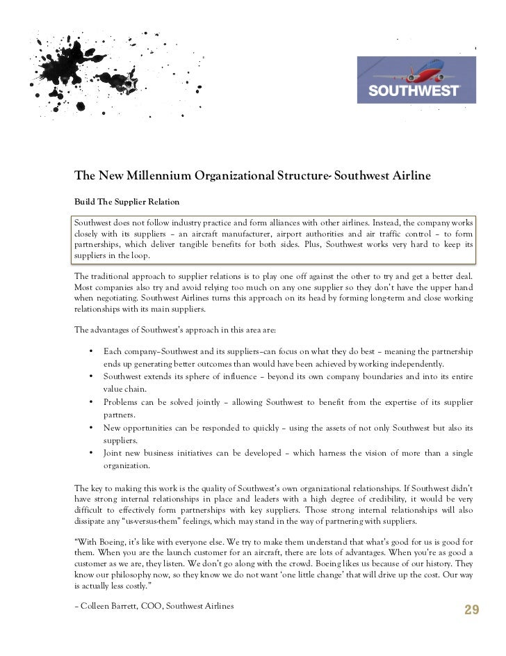 labor relations and practice southwest airlines essay Southwest airlines' mission is dedicated to the highest quality customer service delivered with a sense of friendliness, warmth, company spirit and individual pride the company also offers ordinary people the opportunity to fly.