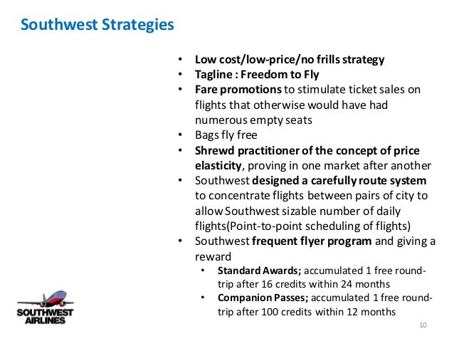 profit analysis of southwest airline The airline was established in 1967, headquartered in dallas, texas southwest airlines is the largest low-cost, no-frills airline southwest offers valuable service at an affordable price southwest's e-booking system was the first of its kind as of june 5, 2011, southwest carries the most .