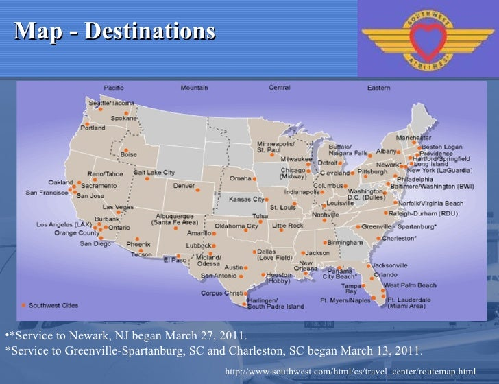 Southwest airlines 4 p report – Southwest Airlines Travel Map