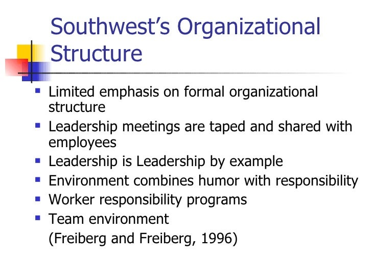 organizational change of southwest airlines Leadership and management issues facing  and management issues facing southwest airlines in the  for southwest airline to change and to lead.