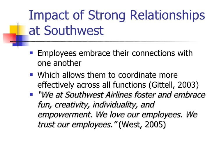 employee empowerment at southwest airlines Discover how southwest airlines has become a leader in customer  q: how  does southwest empower employees to take control when.