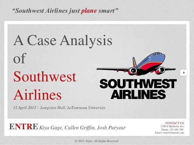 southwest airlines case study analysis 1995 History southwest airlines was originally founded as air southwest company in 1967 by rollin w king and herbert d kelleher the company incorporated as southwest airlines in texas, and began customer service on june 18, 1971.