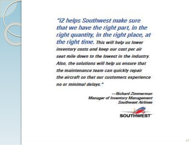 Southwest Airlines takes off with better supply chain management