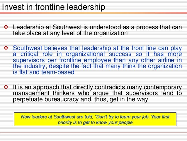 Southwest airlines organizational culture