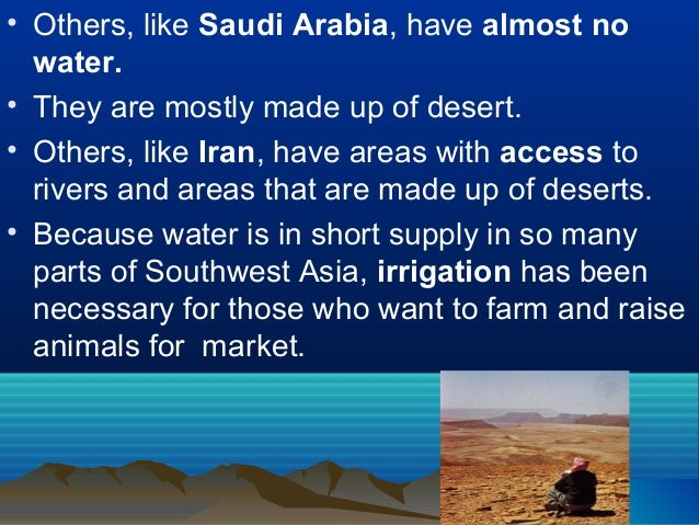 How Are Natural Resources Distributed In Southwest Asia