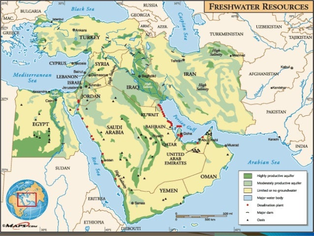 Southwest asia natural resources