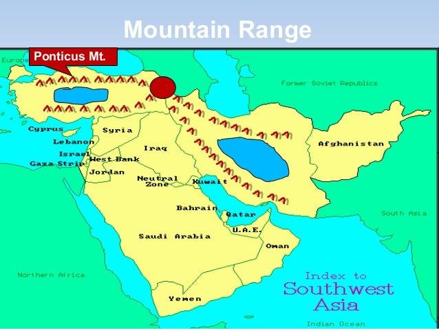 Elburz mountains physical map