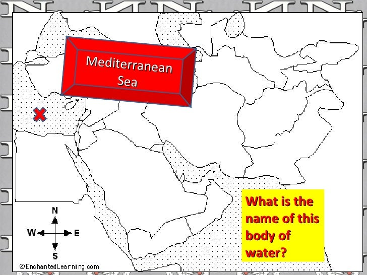 What is the name of this body of water? Mediterranean Sea