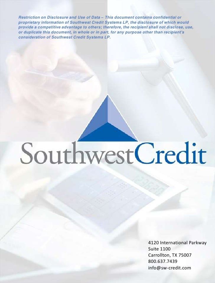 Southwest Credit Detailed Overview Draft2