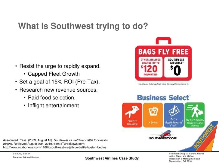 """southwest airlines begins a bags fly free Book a southwest flight today and save up to $120 roundtrip when your bags fly free checked baggage fee comparison is based on southwest = 1st and 2nd bag free vs """"the other guys"""" = 1st bag $25/one-way 2nd bag $35/one-way or 2 bags $60/one-way and $120/roundtrip."""