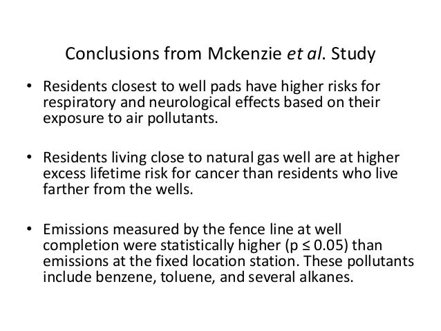 Natural Gas Operations From A Public Health Perspective