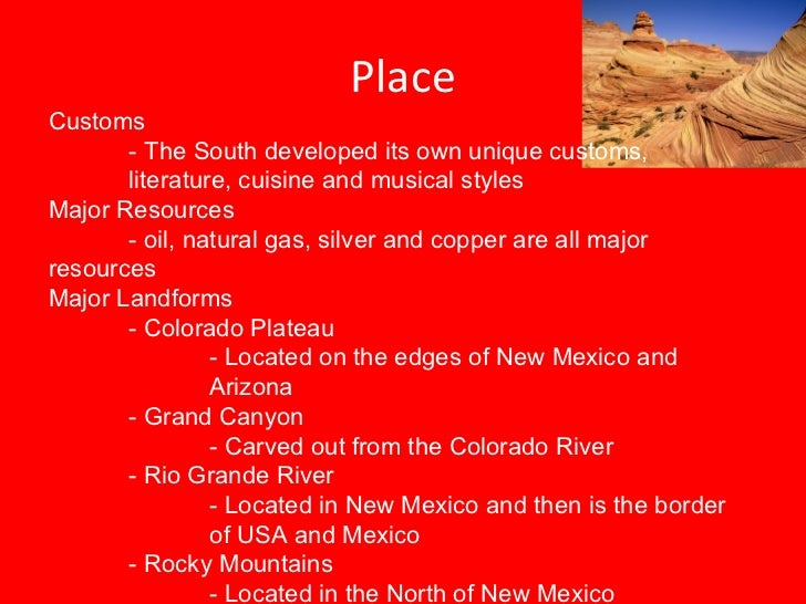 Natural Resources In The Southwest Region