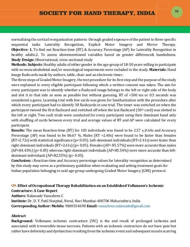 SOCIETY FOR HAND THERAPY, INDIA  55 normalizingthecorticalreorganizationpatternsthroughgradedexposureofthepat...