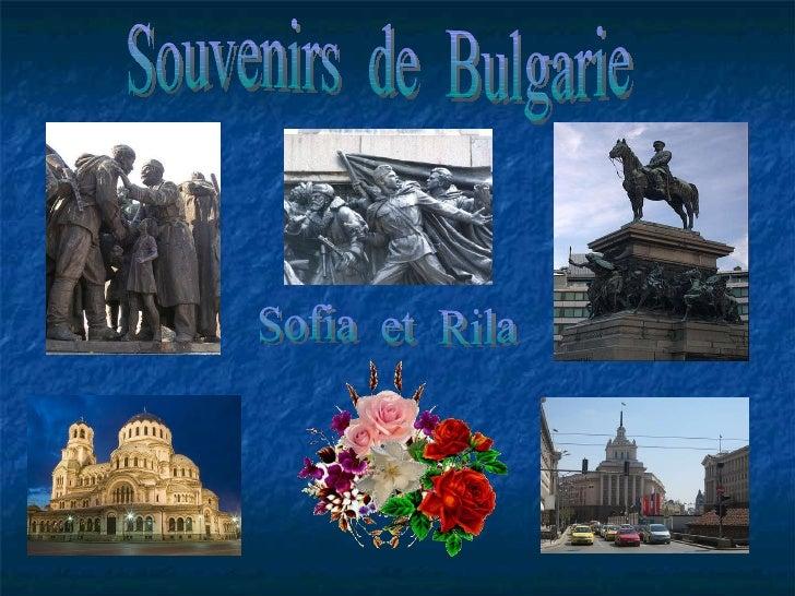 Souvenirs  de  Bulgarie Sofia  et  Rila