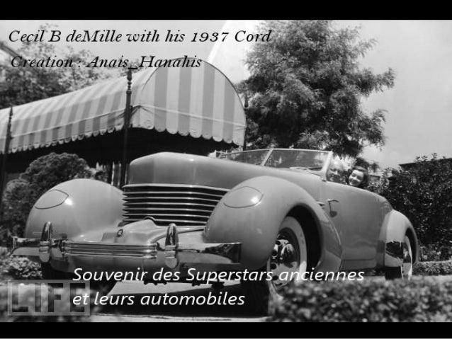 Souvenir des superstars anciennes et leurs automobiles   by anais hanahis