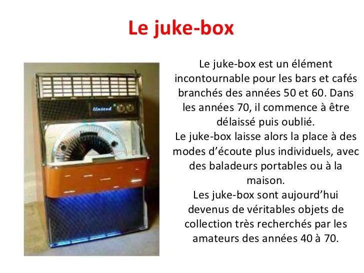 Le juke-box est un élément incontournable pour les bars et cafés branchés des années 50 et 60. Dans les années 70, il comm...