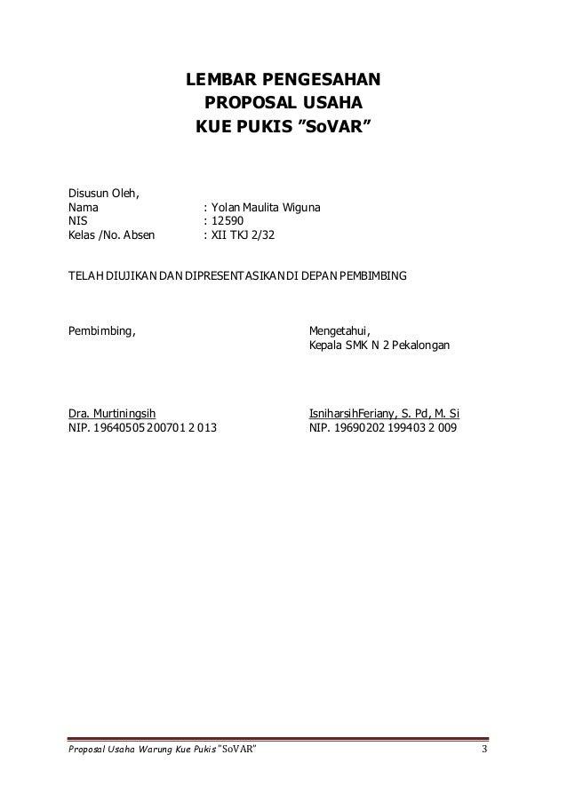 Proposal Usaha Kue Pukis