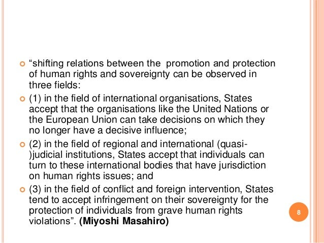 impact globalization sovereignty and autonomy nation state The problem with sovereignty: the modern state's collision with the international law movement  claims that the international legalization of nation-state politics.