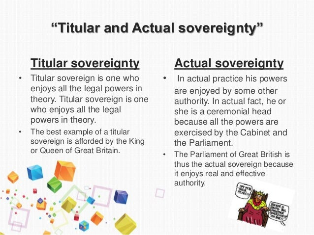 what is de facto sovereignty