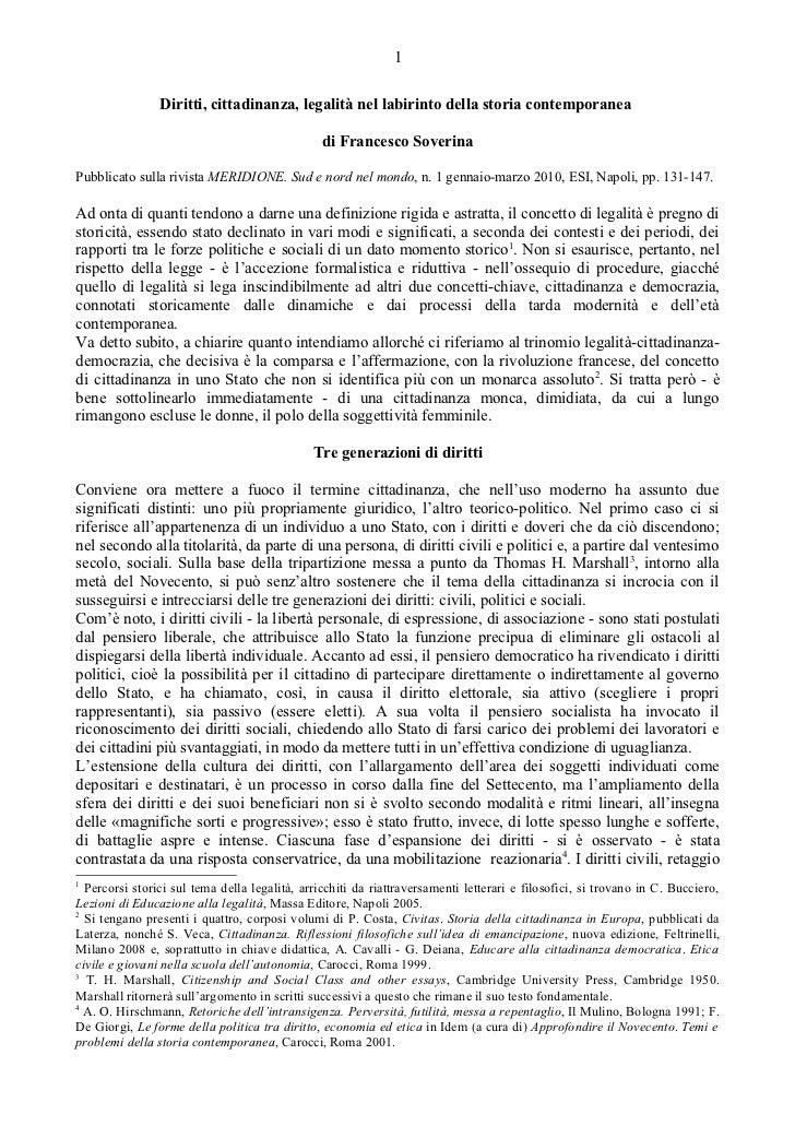 1                Diritti, cittadinanza, legalità nel labirinto della storia contemporanea                                 ...