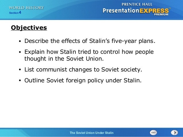 stalin s five year plan speech This full-text lecture discusses the origins and impact of totalitarian regimes in the  1920s and 30s  our speech inaudible ten steps away,  stalin implemented a  series of five year plans in an effort to build up the industrial might of the.