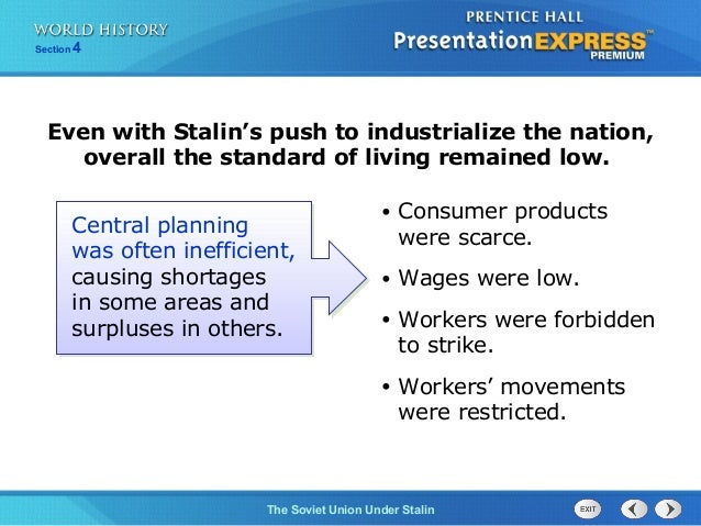 """soviet unions agriculture saw demise under stalins five year plan All in all, stalin's """"five year plans"""" and collectivisation schemes cost the soviet union 6 million lives he ruled by totalitarian control joseph stalin ruled the soviet union with an iron fist."""