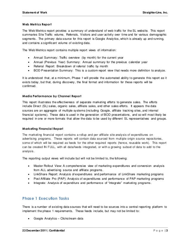 Software project statement of work document sample for Statement of works template