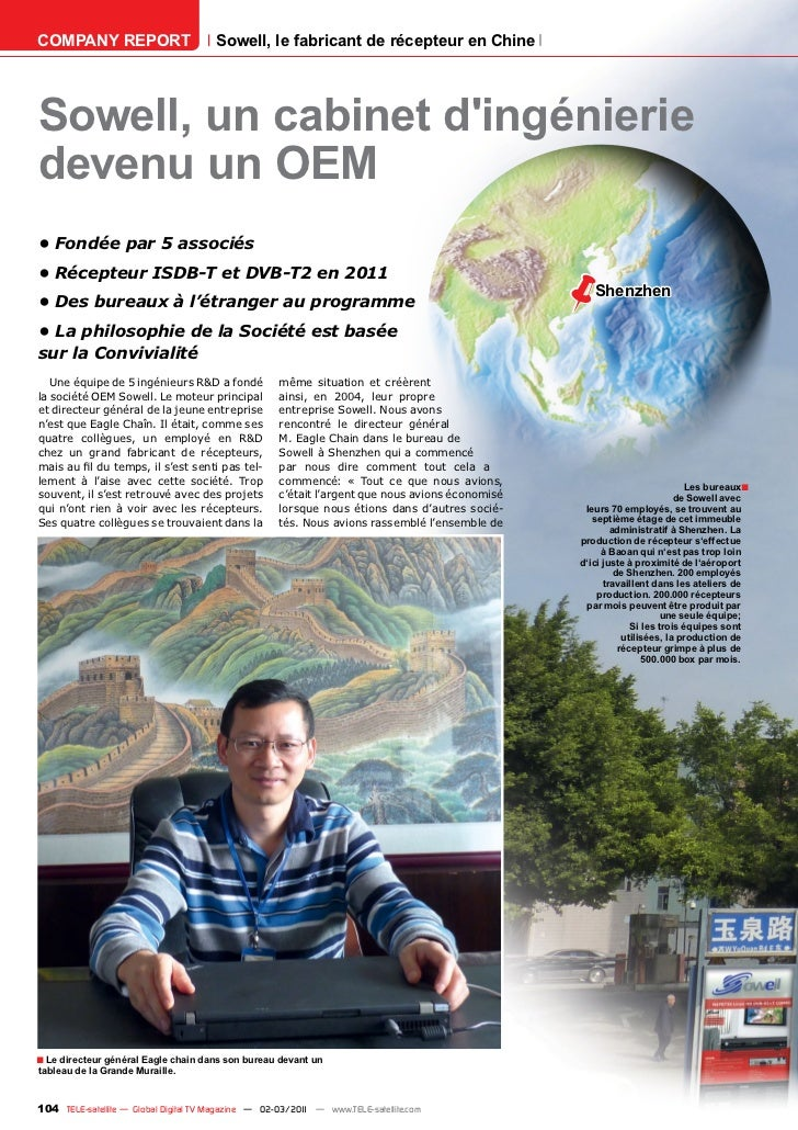 COMPANY REPORT                         Sowell, le fabricant de récepteur en ChineSowell, un cabinet dingénieriedevenu un O...
