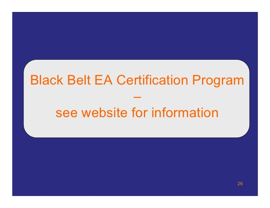 Sowelleac Enterprise Architect Certification Overview
