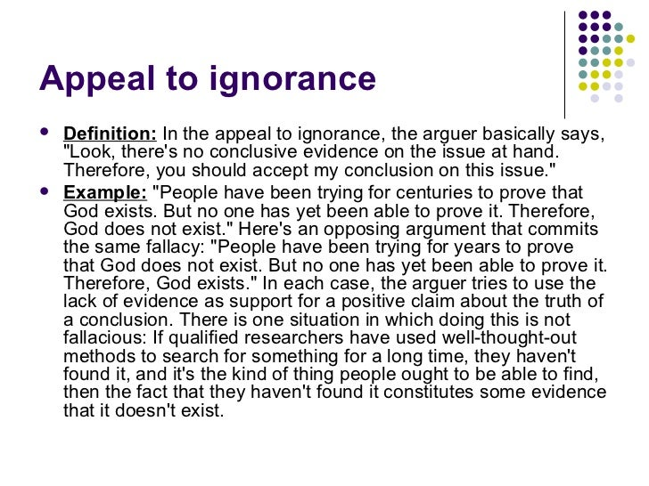 So What Do Fallacies Look Like