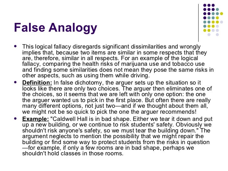 False Analogy Fallacy Examples Choice Image Example Cover Letter