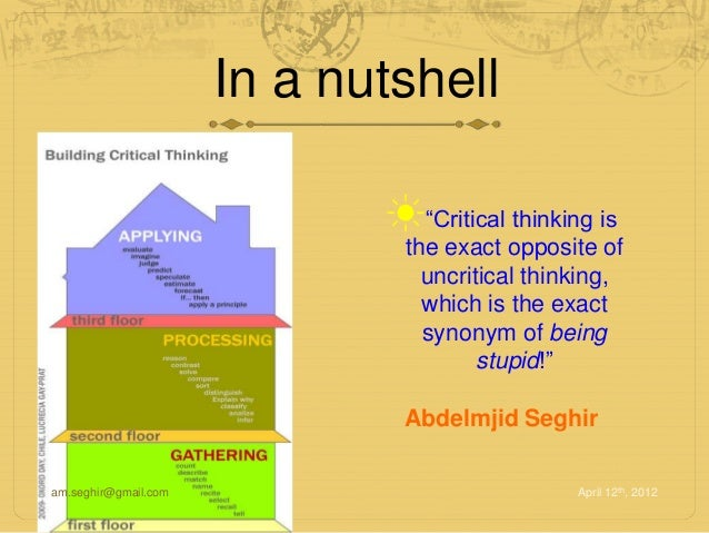 critical thinking synonyms