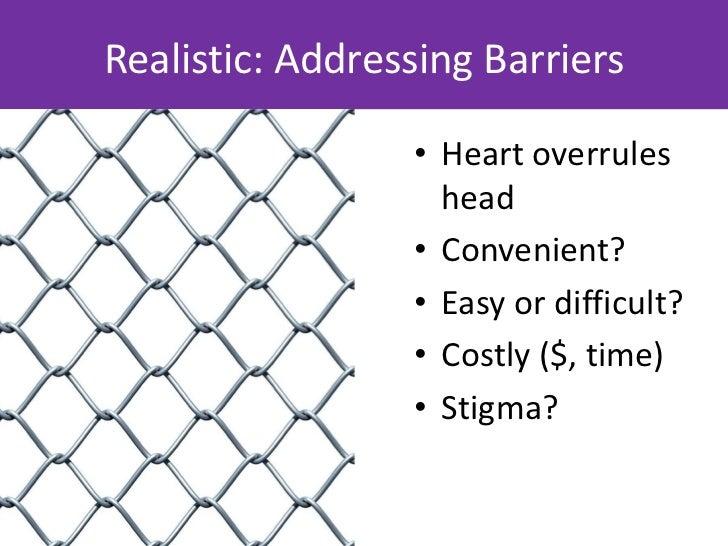 What barriers shouldyour messagingaddress?