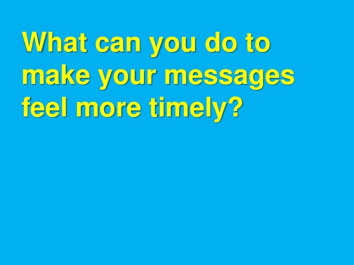 Responsive Messages