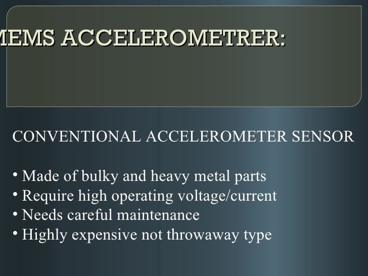 mems accelerometer ppt