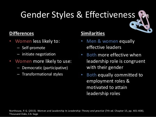 "gender differences in leadership Gender and leadership interestingly, the book ""leadership in organizations,"" states that there are no consistent findings on gender differences in leadership."