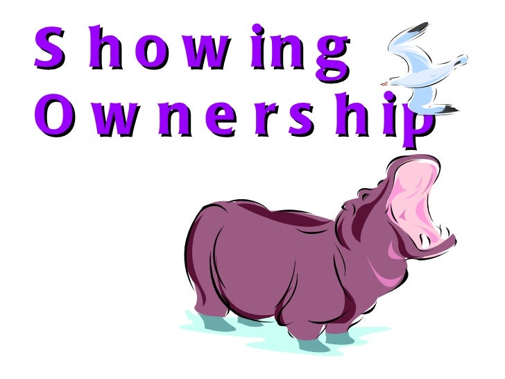 Showing Ownership