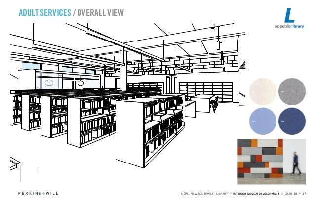 ADULT SERVICES / OVERALL VIEW DCPL, NEW SOUTHWEST LIBRARY // INTERIOR  DESIGN DEVELOPMENT ...