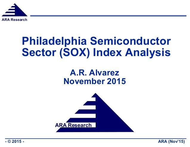 ARA Research ARA (Nov'15)- © 2015 - ARA Research Philadelphia Semiconductor Sector (SOX) Index Analysis A.R. Alvarez Novem...