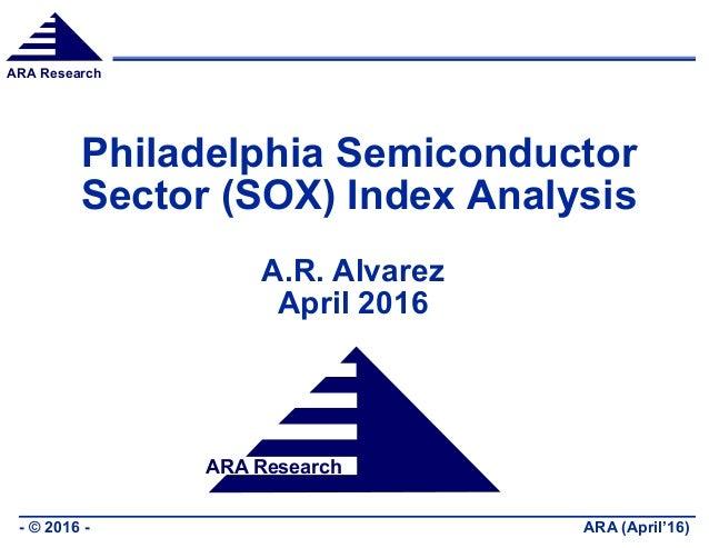 ARA Research ARA (April'16)- © 2016 - ARA Research Philadelphia Semiconductor Sector (SOX) Index Analysis A.R. Alvarez Apr...