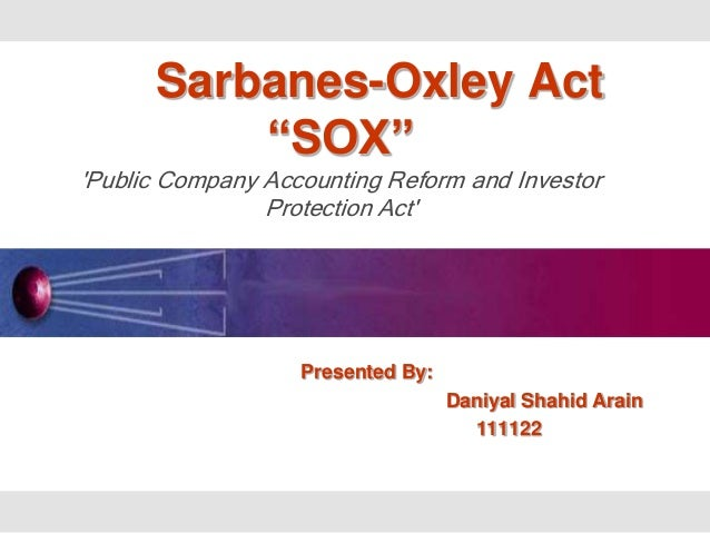 accounting essays sarbanes oxley act The sarbanes-oxley act of 2002 was sponsored by us senator paul sarbanes and us representative michael oxley and became effective in 2004, all publicly-traded companies are required to submit an annual report of the effectiveness of their internal accounting controls to the sec.