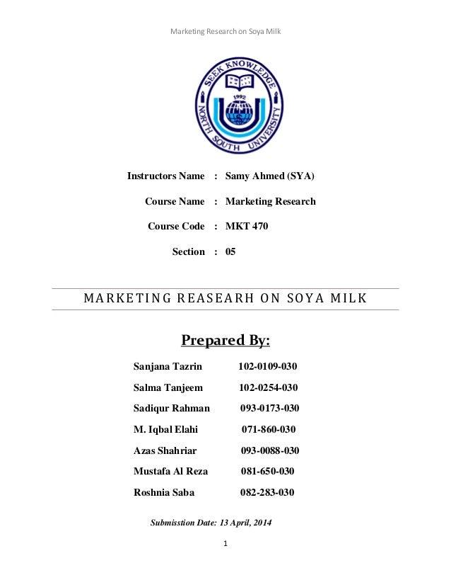 Market Research on Soya milk
