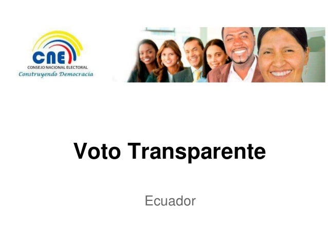 Voto Transparente      Ecuador