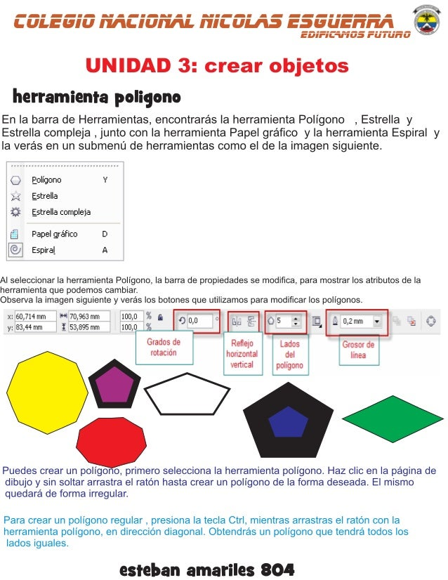 colegio nacional nicolas esguerraEDIFICAMOS FUTURO UNIDAD 3: crear objetos herramienta poligono